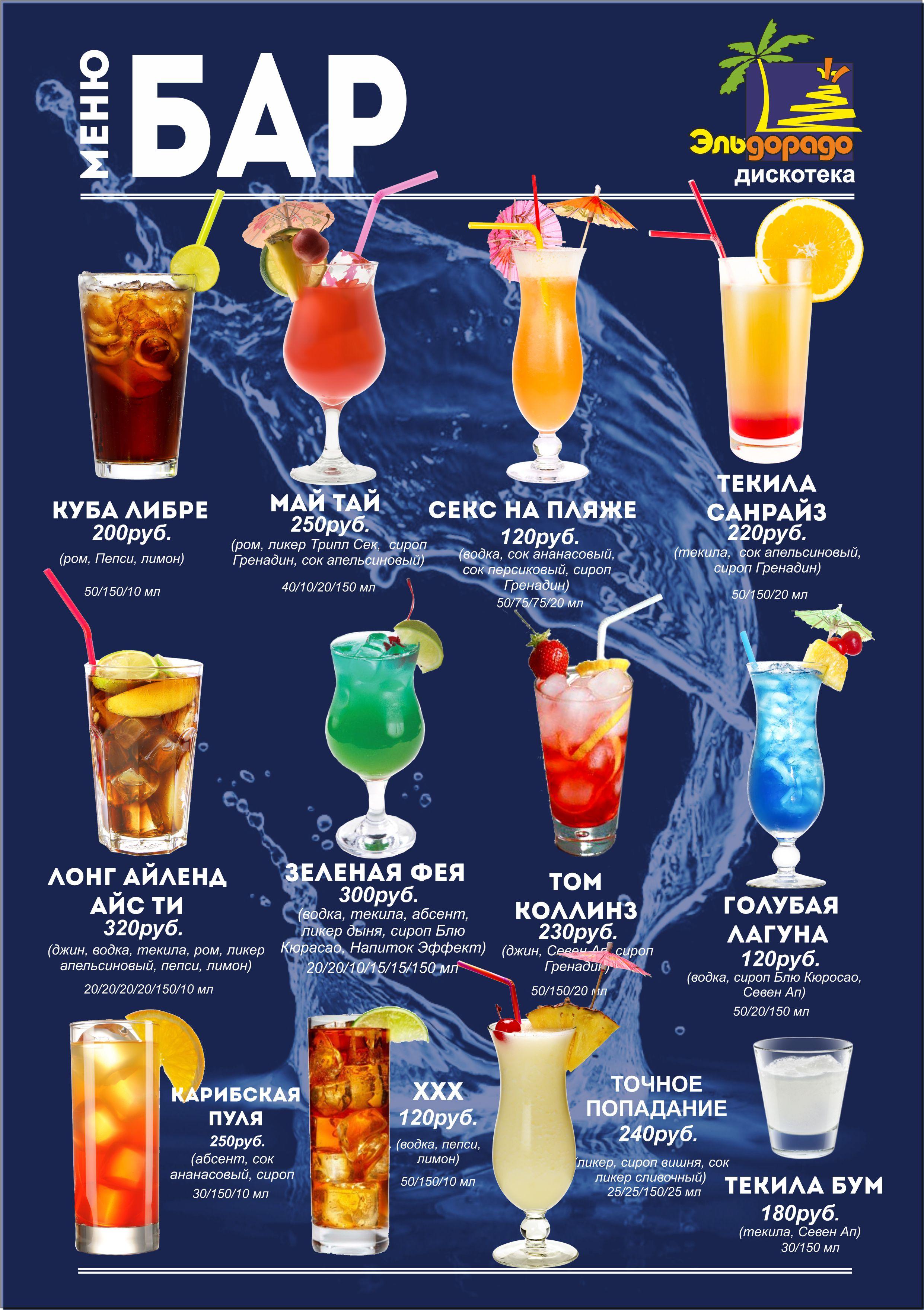Простые алкогольные рецепты коктейлей в домашних условиях
